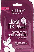 Kup Przeciwzmarszczkowa maska w płachcie z camu camu - Alba Botanica Fast Fix Sheet Mask Camu Camu Anti-Wrinkle