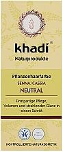 Kup PRZECENA! Organiczna maska-odżywka do włosów z henną - Khadi Neutral Hair Conditioner *