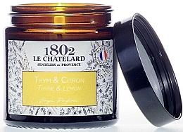Kup Świeca zapachowa, Tymiankowo cytrynowa - Le Chatelard 1802 Thyme-Lemon Scented Candle