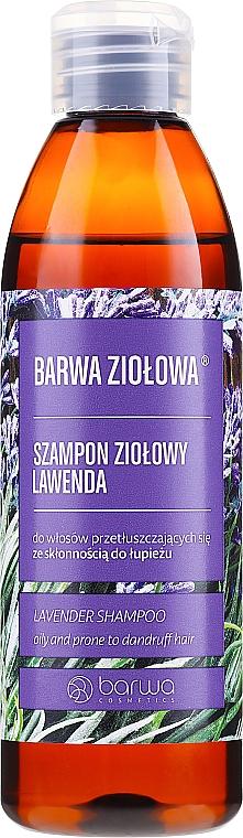 Szampon ziołowy do włosów tłustych i skłonnych do łupieżu Lawenda - Barwa Herbal Lavender Shampoo