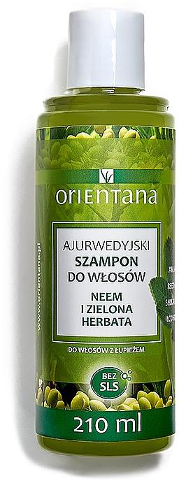 Ajurwedyjski szampon do włosów z łupieżem Neem i zielona herbata - Orientana