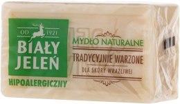 Hipoalergiczne naturalne mydło do skóry wrażliwej - Biały Jeleń — фото N2