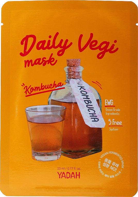Maska w płachcie do twarzy z kombuchą - Yadah Daily Vegi Kombucha Mask — фото N1