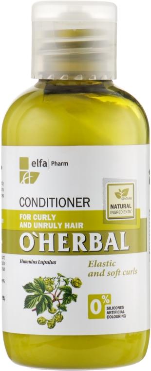 Odżywka z ekstraktem z chmielu do włosów kręconych i niezdyscyplinowanych - O'Herbal