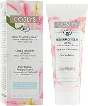 Kup Złuszczający krem do twarzy do skóry normalnej i mieszanej z ekstraktem z lilii - Coslys Facial Care Exfoliating Facial CreamWith Lily Extract
