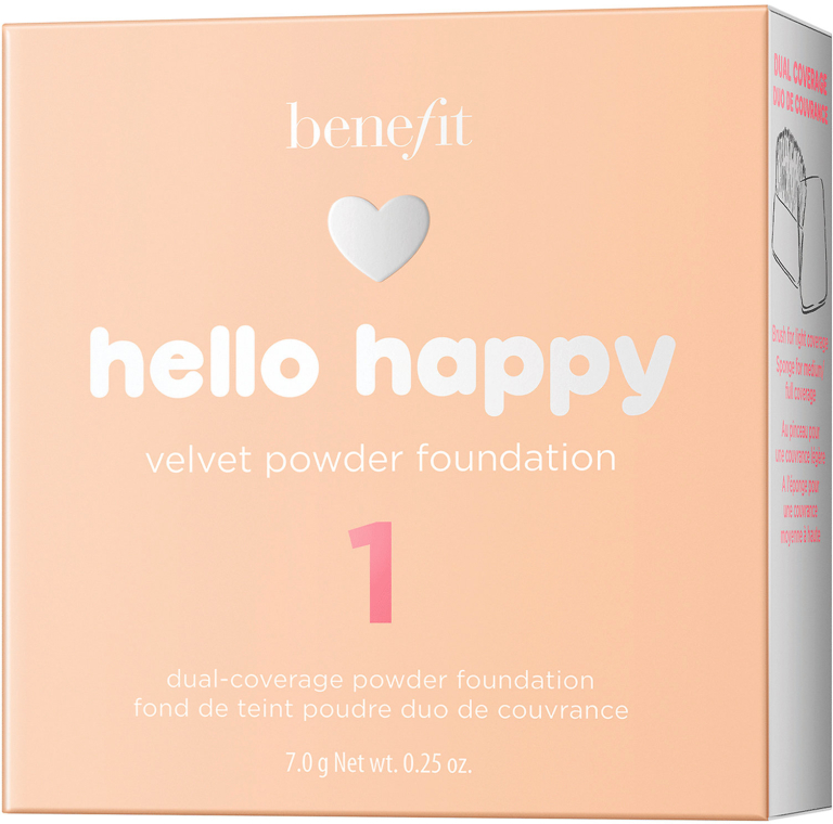 Podkład w pudrze do twarzy - Benefit Hello Happy Velvet Powder Foundation — фото N3