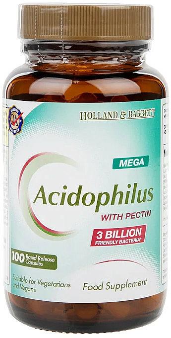 Szczep bakterii kwasu mlekowego z pektyną w kapsułkach - Holland & Barrett Mega Acidophilus With Pectin — фото N1