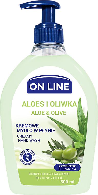 Mydło w płynie do rąk Aloes i oliwka - On Line