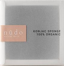 Kup Gąbka konjac do oczyszczania twarzy z węglem aktywnym - Nudo Nature Made Konjac Sponge Charcoal