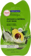 Kup Oczyszczająca maska glinkowa do twarzy Awokado i owsianka - Freeman Feeling Clay Mask Avocado + Oatmeal
