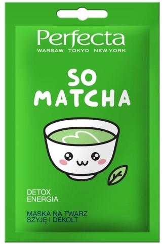 Maska na twarz, szyję i dekolt - Perfecta So Matcha Detox Mask — фото N1