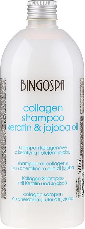 Szampon kolagenowy z olejem jojoba - BingoSpa Collagen Shampoo With Jojoba Oil — фото N1