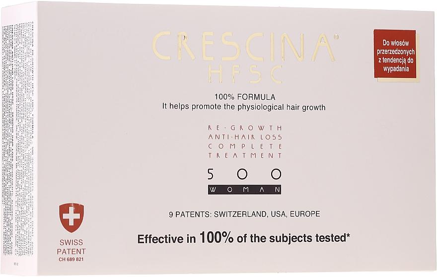 Ampułki na wzrost włosów dla kobiet - Crescina HFSC Re-Growth Anti-hair Loss 500 — фото N1