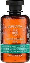 Kup Żel pod prysznic z olejkami eterycznymi Figa - Apivita Refreshing Fig Shower Gel with Essential Oils