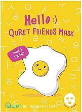 Kup Maska w płachcie z ekstraktem z białka - Quret Hello Friends Mask Egg