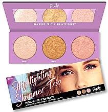 Kup Paletka rozświetlaczy do twarzy - Rude Cosmetics Highlighting Shimmer Trio