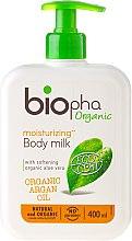 Kup Nawilżające mleczko do ciała z organicznym olejem arganowym i aloesem - Biopha Organic Moisturizing Body Milk Organic Argan Oil