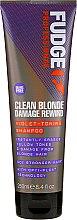 Kup Fioletowy szampon do włosów blond - Fudge Clean Blonde Damage Rewind Shampoo