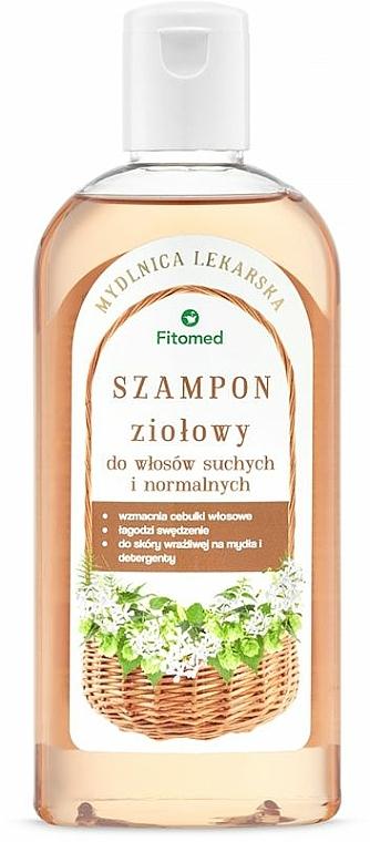 Tradycyjny ziołowy szampon do włosów suchych i normalnych - Fitomed Mydlnica lekarska — фото N1