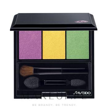 Potrójne cienie do powiek - Shiseido Luminizing Satin Eye Color Trio — фото YE406 - Tropicalia