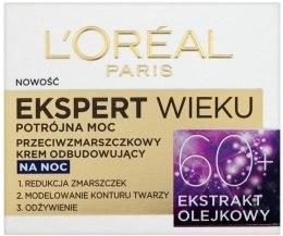 Przeciwzmarszczkowy krem odbudowujący na noc 60+ - L'Oreal Paris Age Specialist Expert Night Cream — фото N2