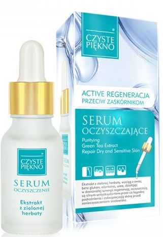 Oczyszczające serum przeciw zaskórnikom z ekstraktem z zielonej herbaty - Czyste Piekno Face Serum — фото N1