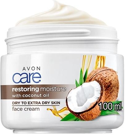 Intensywnie regenerujący krem nawilżający do twarzy z olejem kokosowym - Avon Care Restoring Moisture With Coconut Oil Face Cream — фото N1