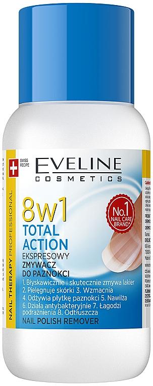Multifunkcyjny ekspresowy zmywacz do paznokci 8 w 1 - Eveline Cosmetics Nail Therapy Professional
