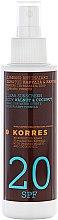 Kup Olejek do opalania - Korres Clear Sunscreen Body Face Walnut Coconut Oil SPF20
