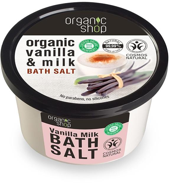 Sól do kąpieli Wanilia i mleko - Organic Shop Baths Salt Organic Vanilla & Milk