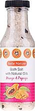 Kup Sól do kąpieli z naturalnymi olejkami Mango i papaja - Belle Nature Bath Salt