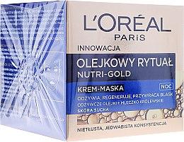 Kup Odżywczy krem-maska do skóry suchej - L'Oreal Paris Nutri Gold Night Cream-Mask