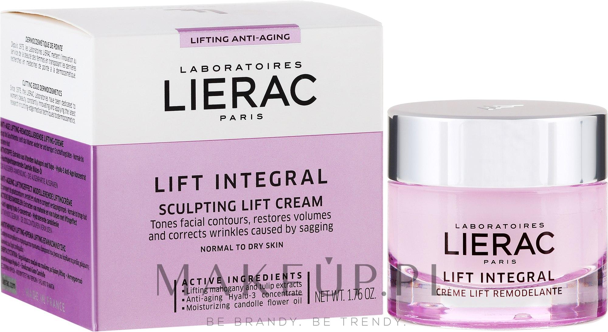 Modelujący krem liftingujący do skóry suchej, normalnej i mieszanej - Lierac Lift Integral — фото 50 ml