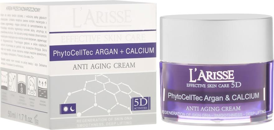 Przeciwstarzeniowy krem do twarzy na noc z komórkami macierzystymi arganu i wapniem 75+ - AVA Laboratorium L'Arisse Effective Skin Care 5D