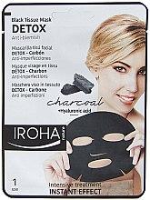 Kup Maska na tkaninie do twarzy z węglem aktywnym - Iroha Nature Detox Black Tissue Mask Charcoal
