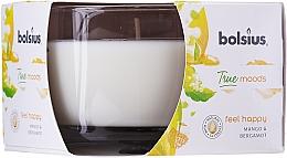 Kup Zapachowa świeca w szkle Mango i bergamotka 63/90 mm - Bolsius True Moods Candle