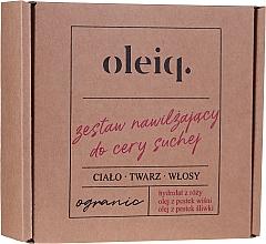 Kup Zestaw nawilżający do cery suchej - Oleiq (hydrolat/100ml + oil/100ml + oil/30ml)