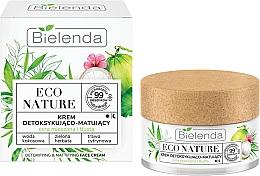 Kup Detoksykująco-matujący krem do cery mieszanej i tłustej - Bielenda Eco Nature Coconut Water Green Tea & Lemongrass Face Cream