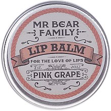 Kup Regenerujący balsam do ust dla mężczyzn Winogrono - Mr. Bear Family Lip Balm Pink Grape