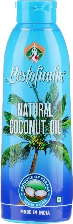 Naturalny olej kokosowy z Kerala do włosów i ciała - Bestofindia Natural Coconut Oil  — фото N1