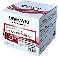 Kup Krem do twarzy na dzień i na noc - Derma V10 Innovations Anti Ageing Day & Night Cream 45+