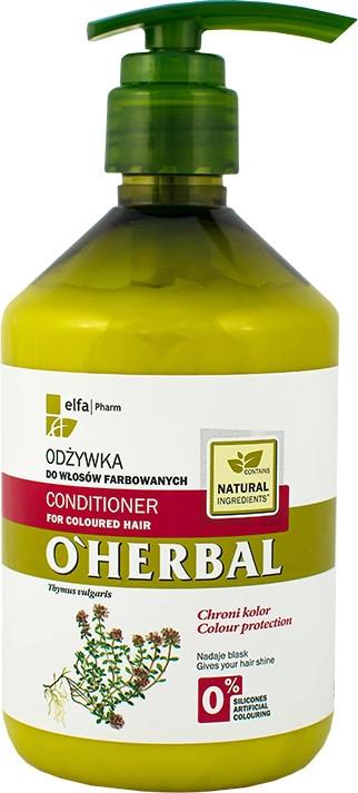 Odżywka z ekstraktem z macierzanki tymianku do włosów farbowanych - O'Herbal