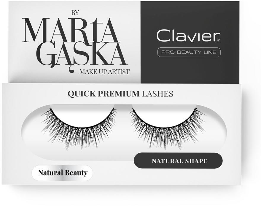 Sztuczne rzęsy - Clavier Quick Premium Lashes Natural Beauty 827