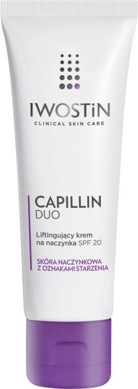 Liftingujący krem na naczynka SPF 20 do skóry naczynkowej z oznakami starzenia - Iwostin Capillin Duo Day Lifting Cream Spf20  — фото N1