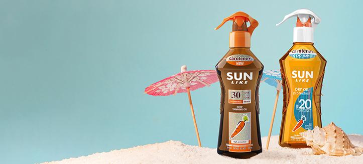 Zniżka na promocyjne produkty Sun Like. Сeny uwzględniają zniżkę