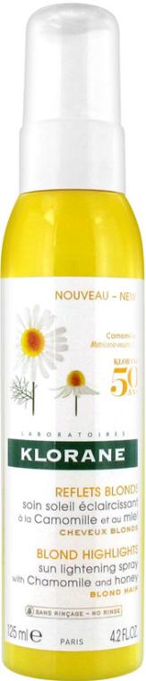 Spray do włosów - Klorane Blond Highlights Sun Lightening Spray With Chamomile And Honey — фото N1