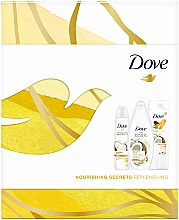 Kup Zestaw - Dove Nourishing Secrets Replenishing (deo/spray/150ml + sh/gel/250ml + b/lot/250ml)