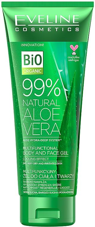 Multifunkcyjny żel do ciała i twarzy - Eveline Cosmetics 99% Natural Aloe Vera