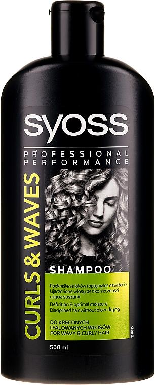 Szampon do włosów niesfornych, kręconych i falowanych - Syoss Curls & Waves Shampoo