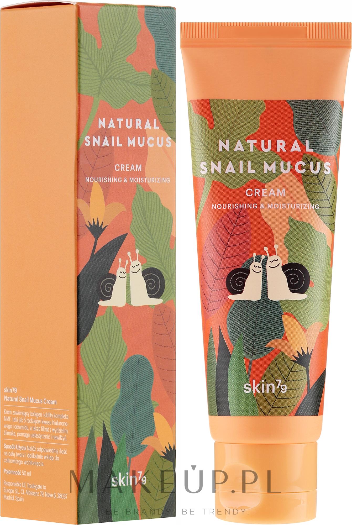 Odżywczo-nawilżający krem ze śluzem ślimaka - Skin79 Natural Snail Mucus Cream — фото 50 ml